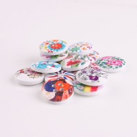 100Pcs Mixed 4 Holes Round Pattern Beautiful Good Quality Wooden Buttons Sewing DIY New Sewing Accessories Button 110049