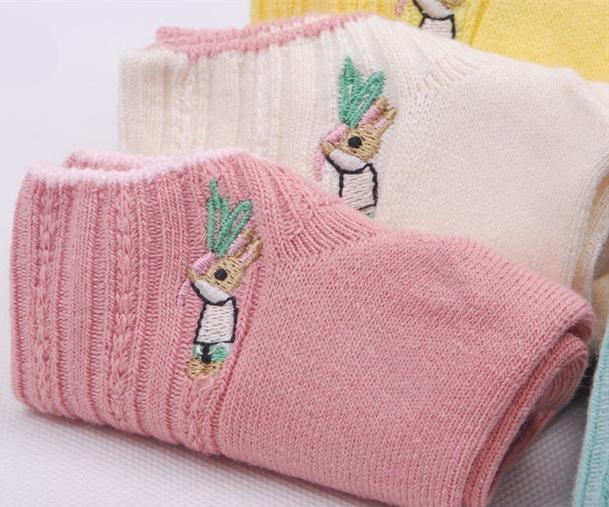 Socks Blue Peter Sock Cute Yellow/pink/blue