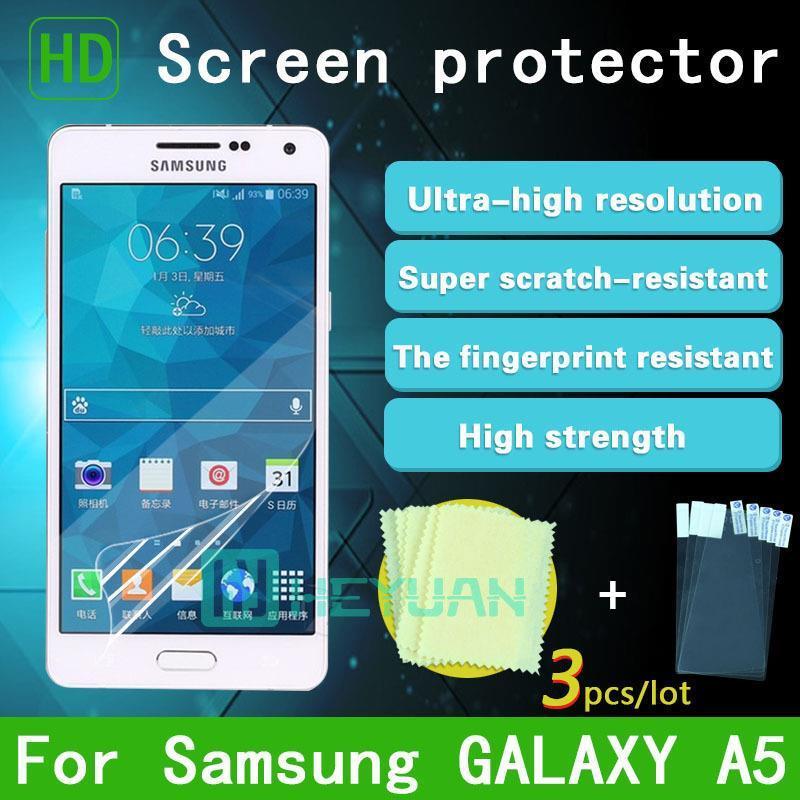 Защитная пленка для мобильных телефонов 3pcs/hd Samsung A5 sm/A500f sm/A500g protect защитная пленка для samsung galaxy a5 sm a500f глянцевая