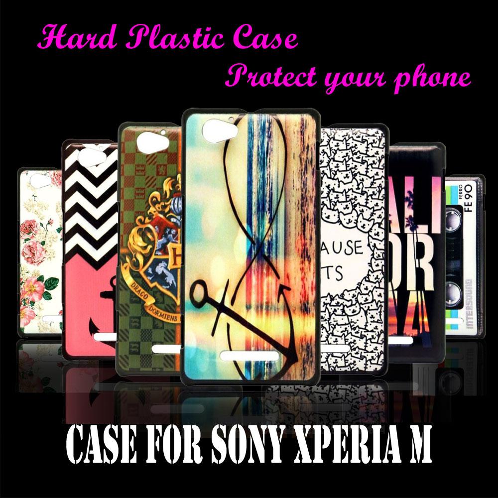 case Cover For Sony Xperia M Dual C1904 C1905 C2005 C2004 Unique Anchor Stone mandrel Hard Plastic Brand New Phone Case(China (Mainland))