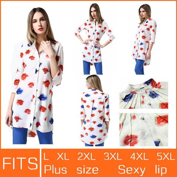 Женские блузки и Рубашки FITS 2015 Blusas 1880