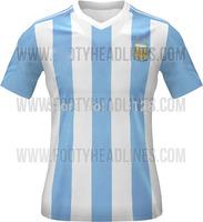 MESSI DI MARIA HIGUAIN KUN AGUERO Argentina 2015 17 Home Blue white home Thailand Quality Soccer jersey shirt Football Uniforms