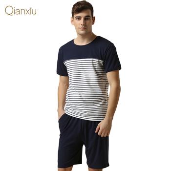 Qianxiu марка пижамы свободного покроя брюки костюм для мужчин Большой размер хлопка ...