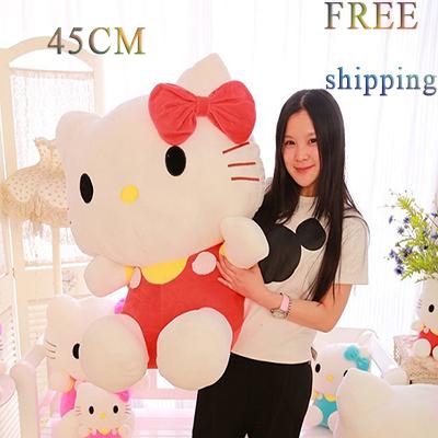 big stuffed animals 45cm Hello Kitty stuffed toys for girls hello kitty plush dolls valentine day birthday gift(China (Mainland))