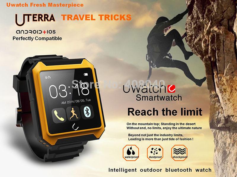 2015 Hot Smart Watch IP68 Waterproof Pedometer Compass Outdoor Bluetooth Spot Watch for iPhone 6 LG G3 Moto Nexus6 Samsung Note4(China (Mainland))