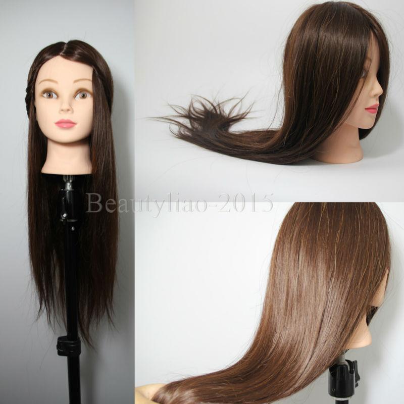 Long Hair Manikin Long Brown 50 Real Human Hair