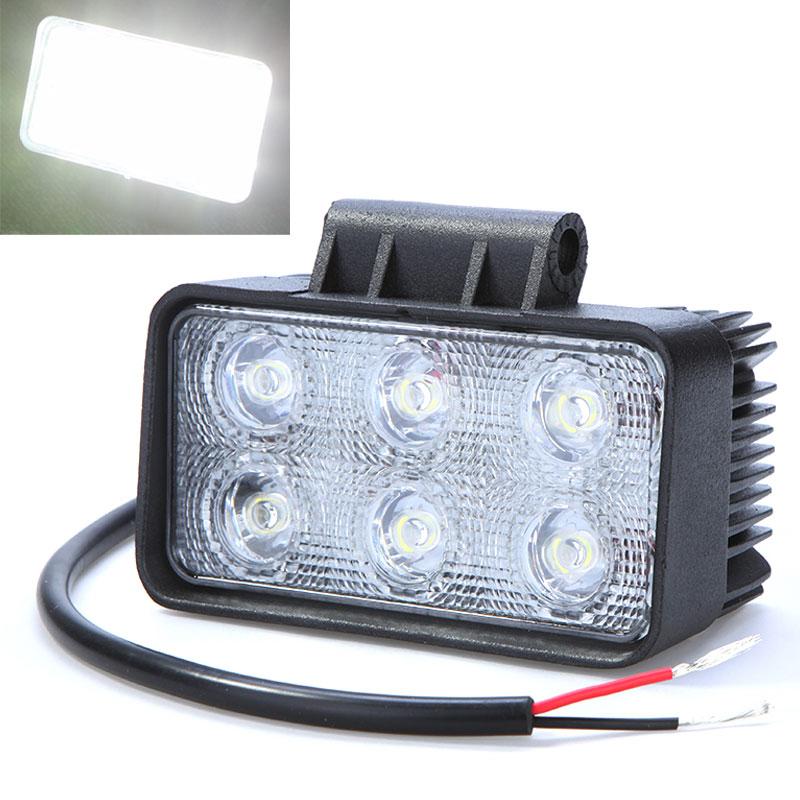 6LED 18W Auto Car Work Light Led Car Fog Lamp Light Bulb for Jeep SUV ATV Off-road Truck 6000K IP67 Waterproof PMMA Lens(China (Mainland))