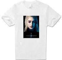Mens Clothing Tops Tees T-Shirts Colors Game of Thrones Daenerys T Shirt Women Full Cotton short Sleeve White XXL Top T Shirt