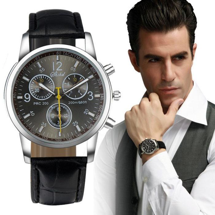 Gofuly New Luxury Fashion Crocodile Faux Leather Men's Analog Watch 5 Styles Quartz Watch Men WRIST WATCH Reloj(China (Mainland))