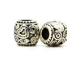1piece 925 Silver High quality Mini Heart Bead DIY big hole European Beads Fits Charm pandora Bracelets necklaces pendants
