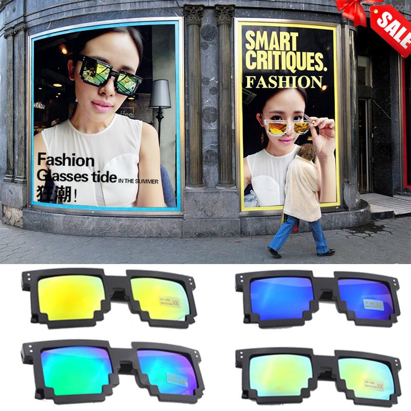 2015 New Super Fashion Mosaic  Sunglasses Women Men Unisex Square Sunglass Shades six model Multi Color Glasses(China (Mainland))