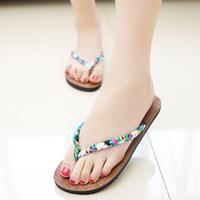 New Summer Bohemia Beach Slippers Women Sandal Flip Flops Shoes 2015 SP0019