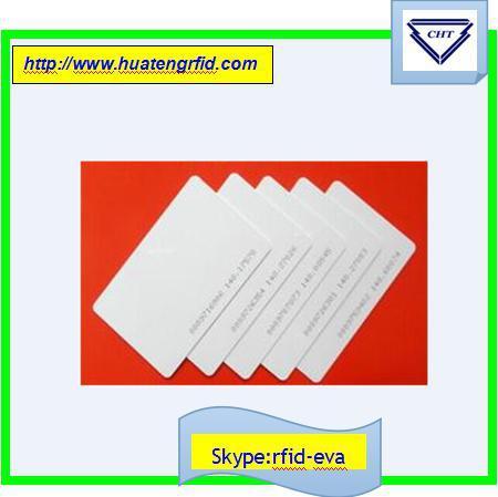 HOT !200pcs/Lot RFID Smart Card Proximity Access Control White Proximity Contact IC 125KHZContactless Card for 200pcs(China (Mainland))