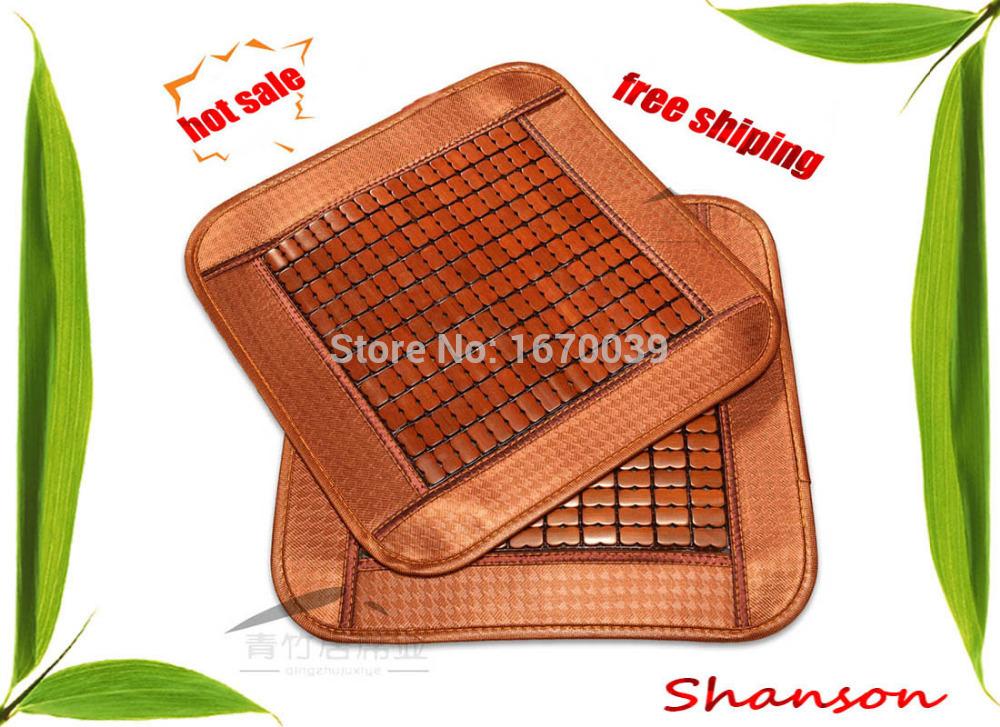 Shanson free shipping 100% nature bamboo handmade summer seat cushion/ car cushion/ office chair pads/bamboo pet icy pad(China (Mainland))