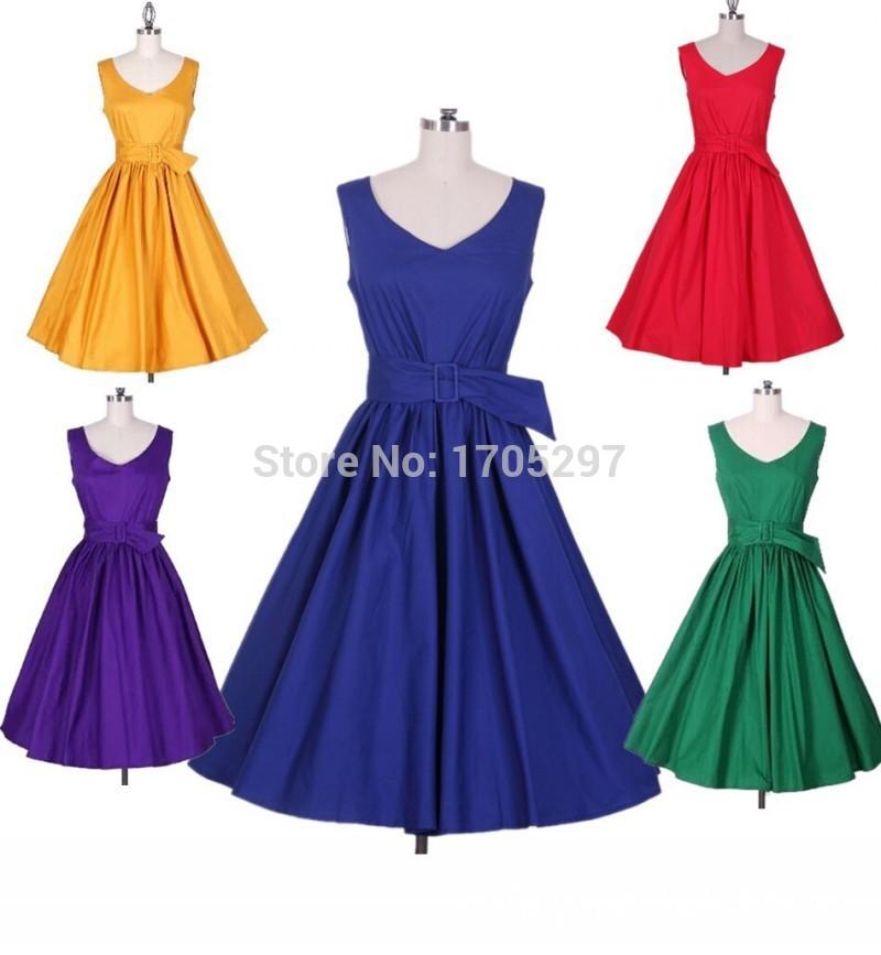 Женское платье EXO 2015 50s 1010