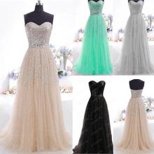 Sexy ballkleider 2015 neuankömmling langen Liebsten einen- Linie Champagner abendkleid kleid langen eleganten vestidos versandkostenfrei(China (Mainland))