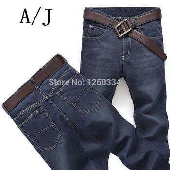 2015 новых мужских джинсов деловые aj больших размеров мужские джинсы тонкий джинсы оригинальные одном подлинном иностранные товары длинные джинсы
