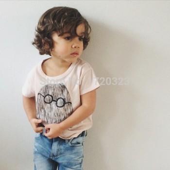 2015 бобо выбирает мультфильм печатных футболки / детская одежда топы тройники / vetement enfant 2-7 лет мальчики девочки reine des neiges гарсон