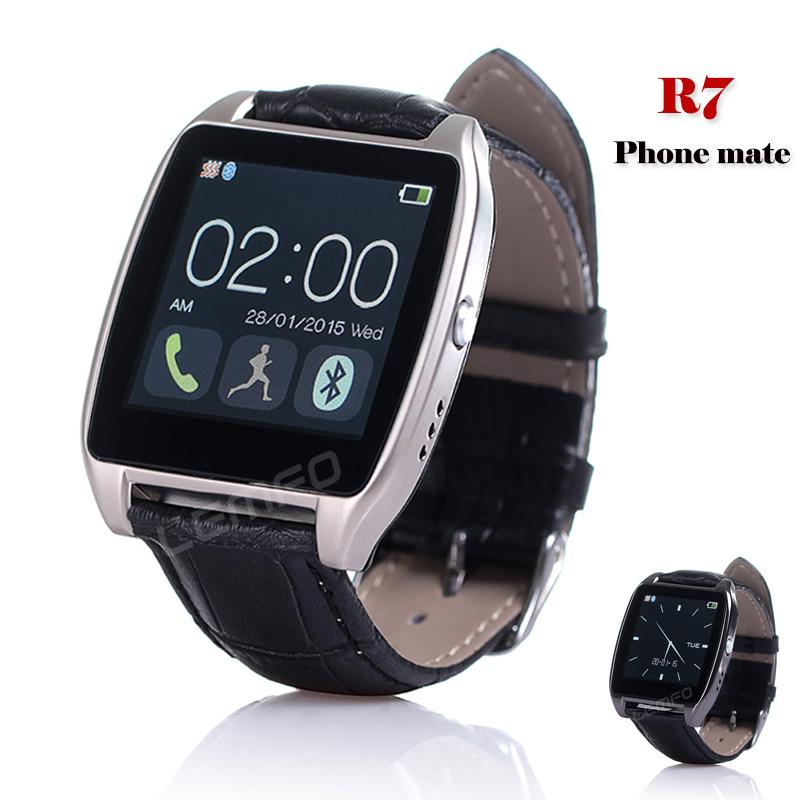 R7 /bluetooth /SMS Smartwatch ios, Android Samsung LG HTC u8 smartwatch bluetooth ответ камера управляющее сообщение медиа анти потерянный для android ios смартфон