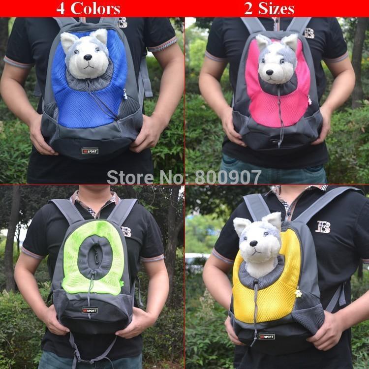 Pet Carrier Backpack Portable Pet Dog Carrier Travel Bag Pet Dog Front Bag Mesh Backpack Head Out Double Shoulder(China (Mainland))