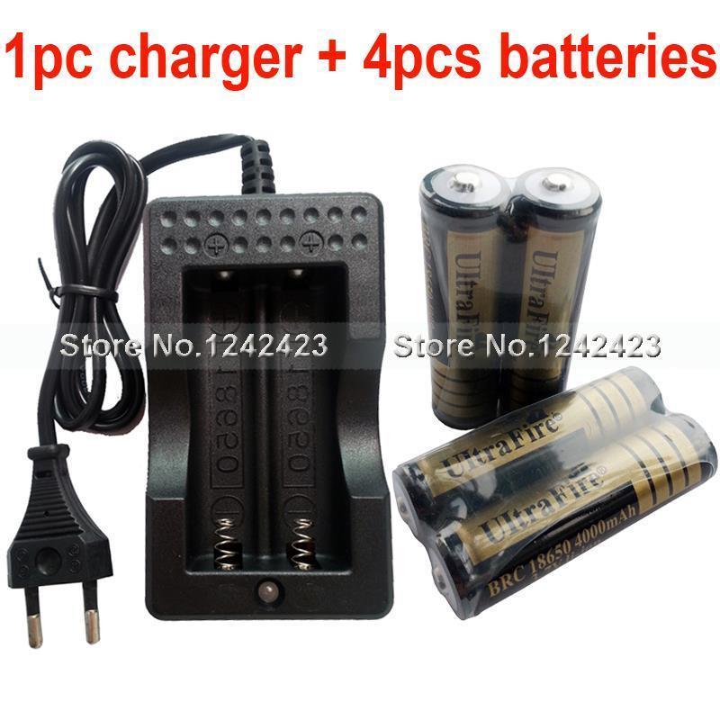 Зарядное устройство 18650 4 3.7V 4000mAh Ultrafire 18650 + 18650 WF-139 зарядное устройство duracell cef14 аккумуляторы 2 х aa2500 mah 2 х aaa850 mah