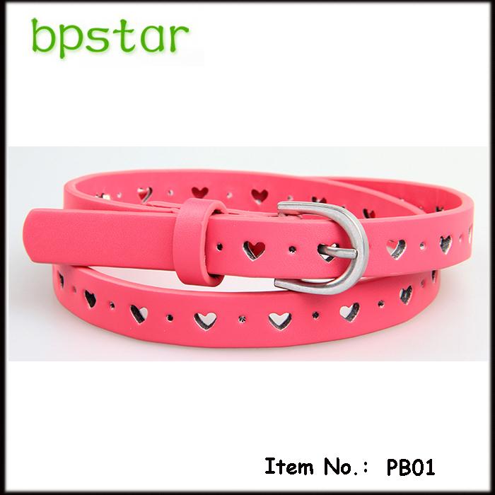 2015 New Fashion kids belt girls belt pu belts for kids childrens girls pink cracker khaki colors free shipping(China (Mainland))