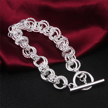 Wholesale And Retail High Quality 925 Sterling Silver Bangles Charm Fashion Bracelet Woman Marriage Fashion Jewelry