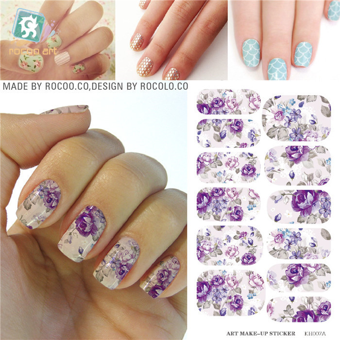 Fashion Sticker on nails Full Cover Water Transfer Foil nail sticker stencils for manicure Tools Stickers