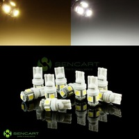 T10 161 168 WHITE 5SMD 5050 LED Lights width lamp BACKUP Licens Lamp bulb FreeShiping