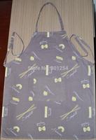 cotton printing bib apron for bar and coffee shop
