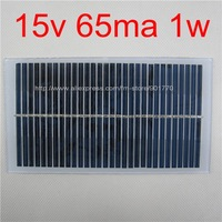 15V 65MA 1W solar panel solar power 12V DC battery solar module solar pv charge led free shipping