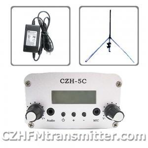 FMUSER CZH CZE-5C 5W FM stereo PLL transmitter+GP antenna +Powersupply free shipping(China (Mainland))