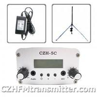 FMUSER CZH CZE-5C 5W  FM stereo PLL transmitter+GP antenna +Powersupply free shipping