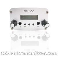 FMUSER CZH CZE-5C 5W  FM stereo PLL broadcast transmitter hot sale 76-108MHZ