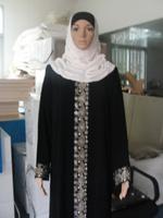 sh062001 green muslim abaya in size L,XL,XXL  FOR FREE SHIPPING