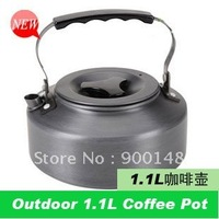 Free Shipping Kitchen TeaPot Camping aluminium alloy Tea Coffee Kettle 1.1L