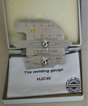 HJC40 Welding Gauge Detect Boilers Bridges Pipes Gage For Welder Inspection