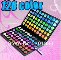 Free shipping!!120colors eyeshadow palette,high quality makeup palette