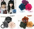 nice shipping~ Camellia multi colors flower brooch hairpin hair accessory hairband hair ornamentsFS007