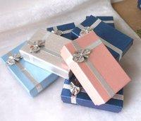 Box. Jewelry Box.Ring Box. Earrings Box. Cardborad box. Free Shipping.