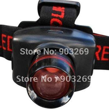 Mail Free + 1PC LC-009 LED Headlamp 5W 300 Lm CREE Q5 LED Headlight 3 Mode 3* AAA Battery Waterproof Hiking Zoomable Headlight