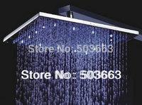 12''LED  faucet bathroom chrome shower head  b8104 brass chrome square shower head