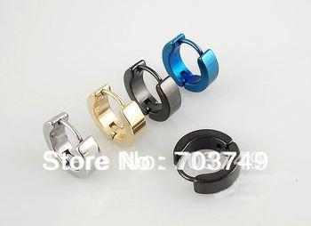 Wholesale - 4mm 316L stainless steel body piercing jewelry Earring ring Ear button Earring rings 50pcs - 01011