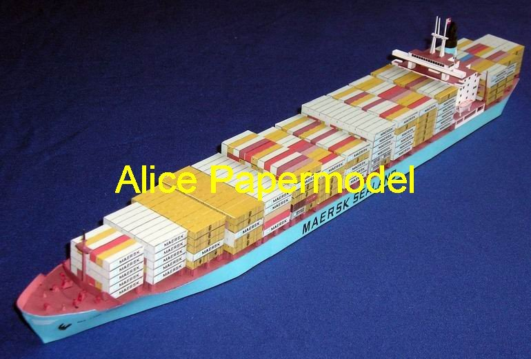 [Alice papermodel] Long 70CM Container cargo ship boat models(China (Mainland))