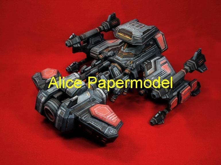 [Alice papermodel] Long 40CM Starcraft2 SC2 Terran yamato battlecruiser battleship models(China (Mainland))