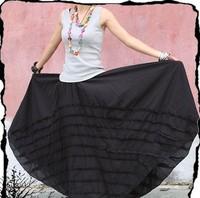 Free shipping high quality women's fashion Custom made long patchwork cotton maxi skirt S0022