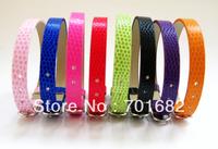 8mm 100pcs Snake skin PU Wristband Bracelet DIY Accessories Fit 8mm slide letter slide charms Free Shipping