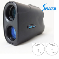 6x24mm Black Portable Monocular Laser Rangefinder Telescope and Speed Finder with 3.9mm Exit Pupil Diameter LRM500