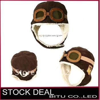 Bargain sale MOQ 1 PCS Winter baby earflap pilot cap BB009p