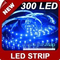 DHL EMS free shipping 5m Blue 3528 SMD LED Flexible 300 LEDS Strip light +Free Connector  10set/lot 50M/lot